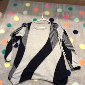 Tops - Tunic top gray and navy